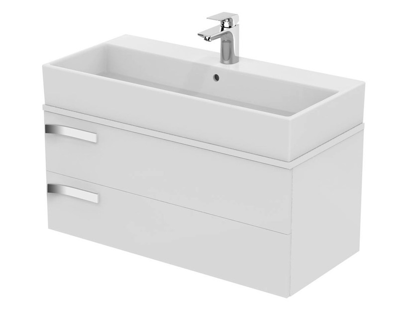 Single wall-mounted vanity unit with drawers STRADA - K2457 - Ideal Standard Italia