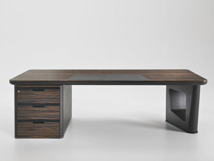 L-shaped wooden executive desk AVATAR | Office desk with drawers - i 4 Mariani
