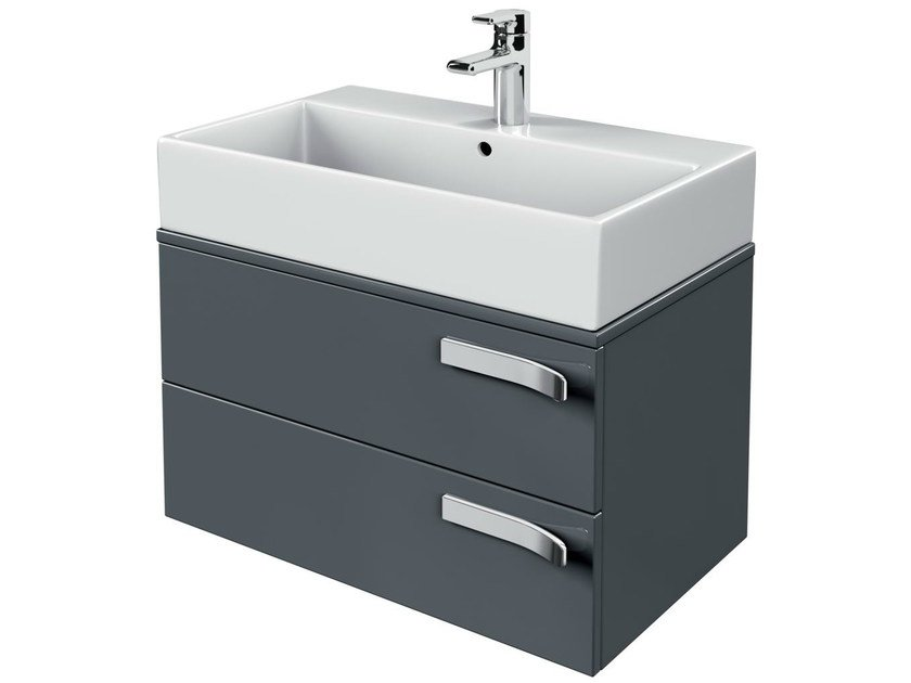 Single wall-mounted vanity unit with drawers STRADA - K2455 - Ideal Standard Italia