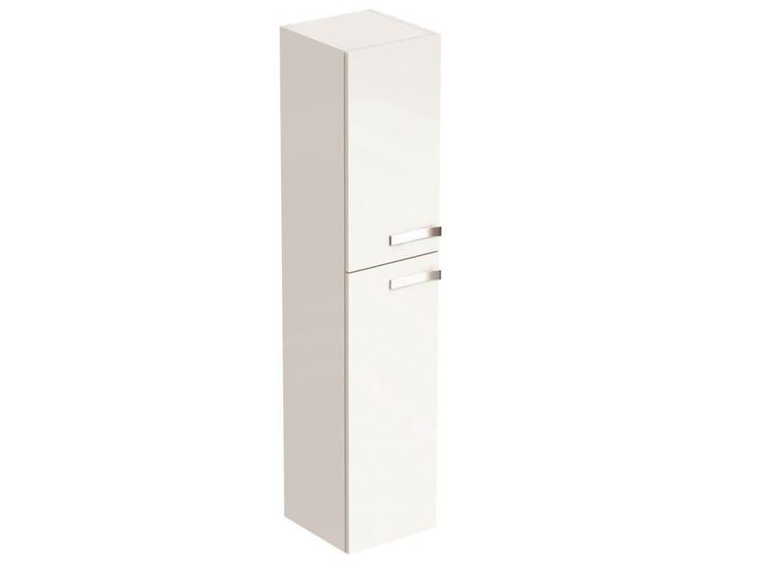 Tall floorstanding bathroom cabinet with doors STRADA - K2683 - Ideal Standard Italia