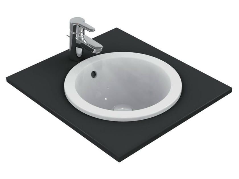 Inset round washbasin CONNECT 38 x 38 cm - E5051 - Ideal Standard Italia