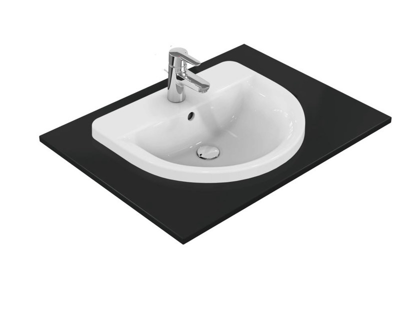 Inset single washbasin CONNECT 55 x 46 - E7978 - Ideal Standard Italia