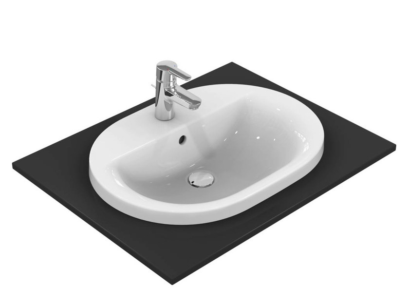 Lavabo da incasso soprapiano ovale connect e5040 collezione connect by ideal standard italia - Lavabo bagno ideal standard ...