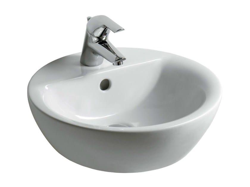 Countertop round single washbasin CONNECT 43 x 43 cm - E8040 - Ideal Standard Italia