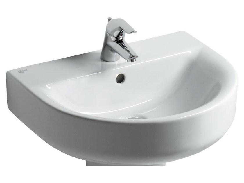 Single wall-mounted washbasin CONNECT 70 x 46 cm - E7740 - Ideal Standard Italia