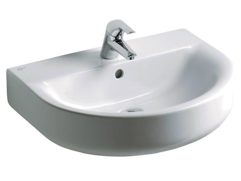 Single wall-mounted washbasin CONNECT 60 x 46 cm - E7135 - Ideal Standard Italia