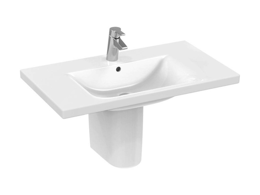Rectangular single wall-mounted washbasin CONNECT 100 x 49 cm - E8126 - Ideal Standard Italia