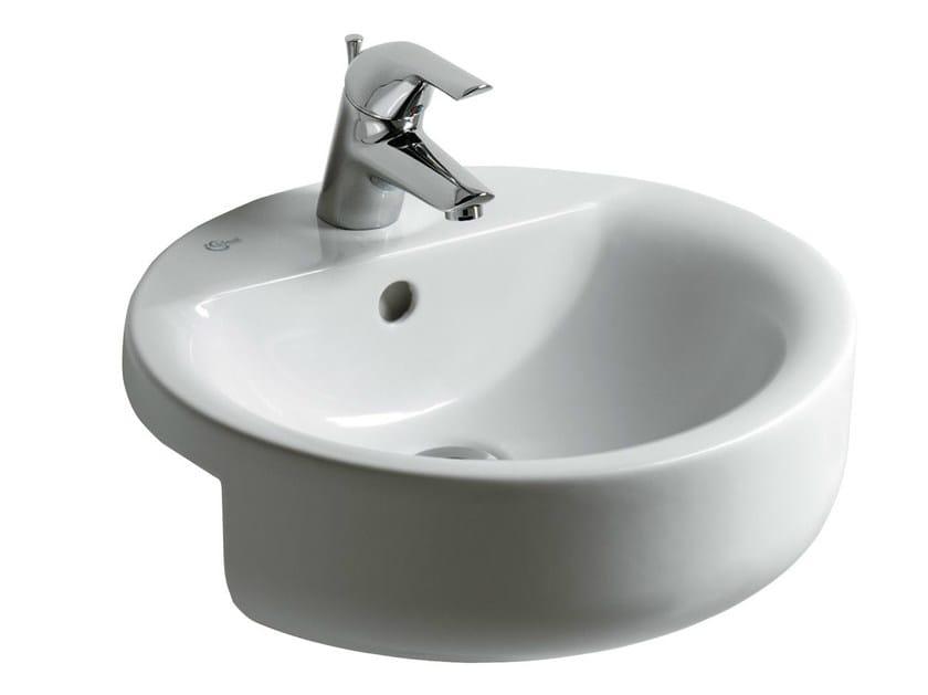 Semi-inset round single washbasin CONNECT 45 x 45 cm - E8065 - Ideal Standard Italia