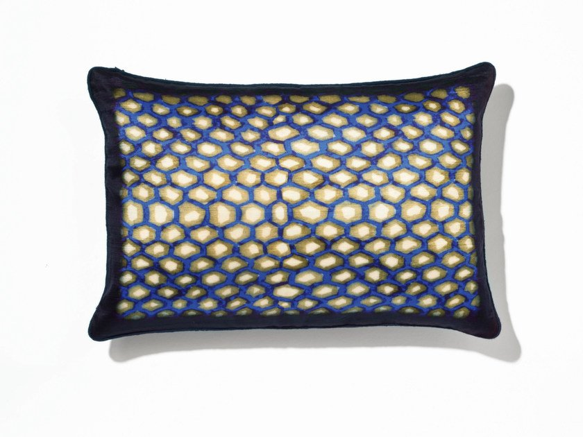 Rectangular silk cushion with removable cover AMBRE - Élitis