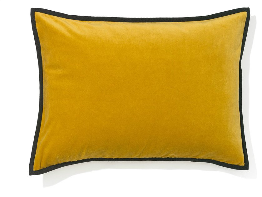 Rectangular velvet cushion with removable cover ORPHEE by Élitis