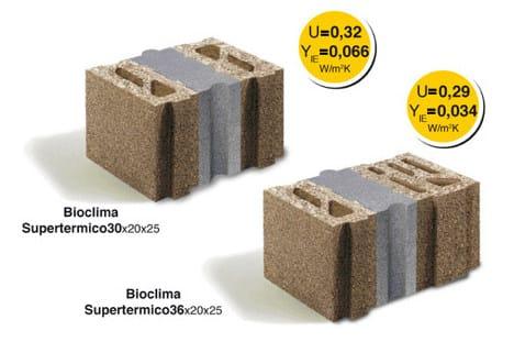 Thermal concrete block LECABLOCCO BIOCLIMA SUPERTERMICO - LecaSistemi