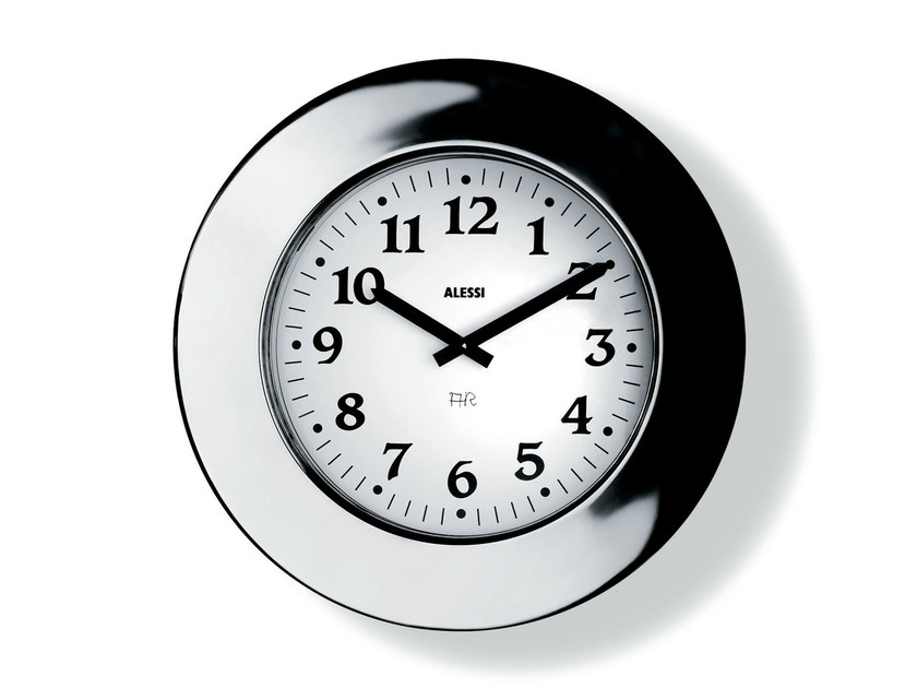 Wall-mounted stainless steel clock MOMENTO - ALESSI