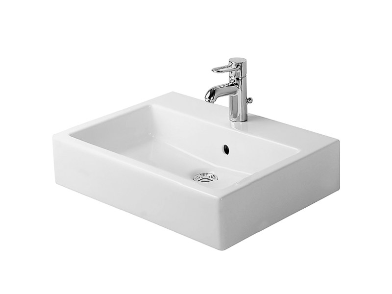 Vasque poser rectangulaire en c ramique collection vero by duravit italia - Vasque a poser duravit ...