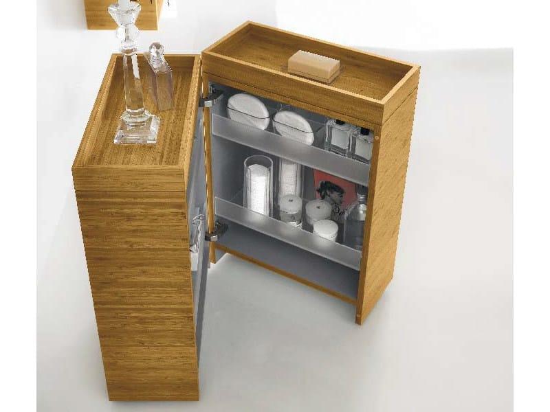 Mobile bagno contenitore con ruote collezione maori by for Rangement entre deux meubles