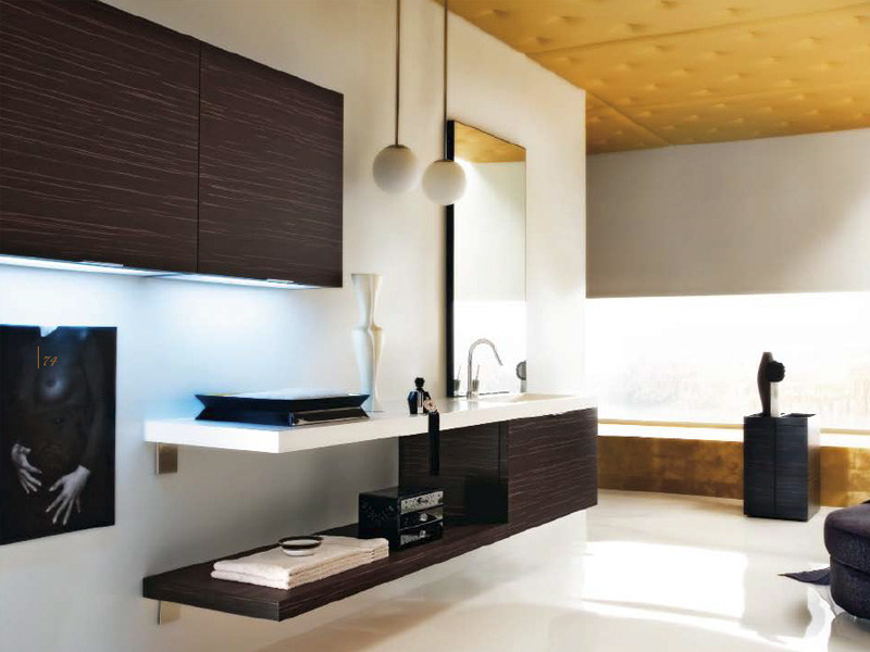 Wall cabinet with integrated lighting MAORI | Bathroom cabinet with integrated lighting by Cerasa