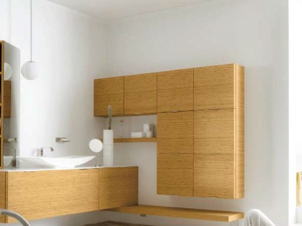 meuble pour salle de bain suspendu avec rangement meuble. Black Bedroom Furniture Sets. Home Design Ideas