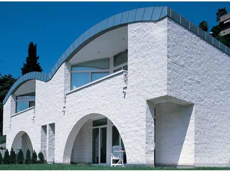 Lightweight concrete block partition BLOCCO ARCHITETTONICO SPLITTATO - LecaSistemi