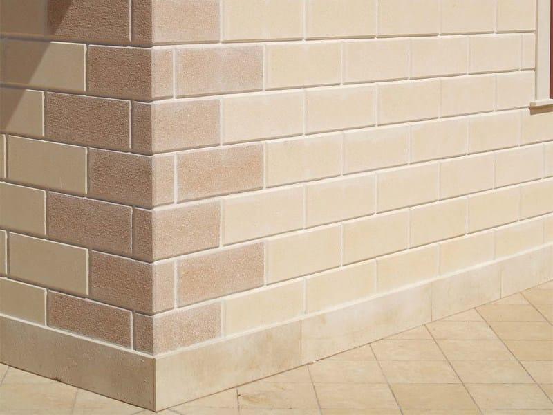 Lightweight concrete block partition BLOCCO ARCHITETTONICO BISELLATO by LecaSistemi