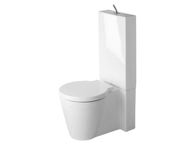 Close coupled ceramic toilet STARCK 1 | Toilet by Duravit