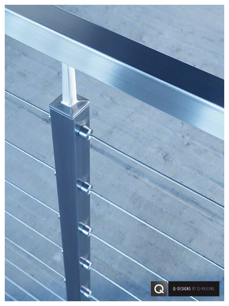 Stainless steel balustrade SQUARE LINE 40X40 | Stainless steel balustrade - Q-RAILING ITALIA