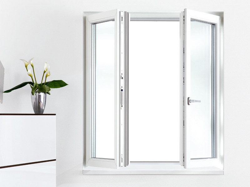 Porta finestra a battente in pvc geneo rehau - Quanto costa una porta finestra in pvc ...