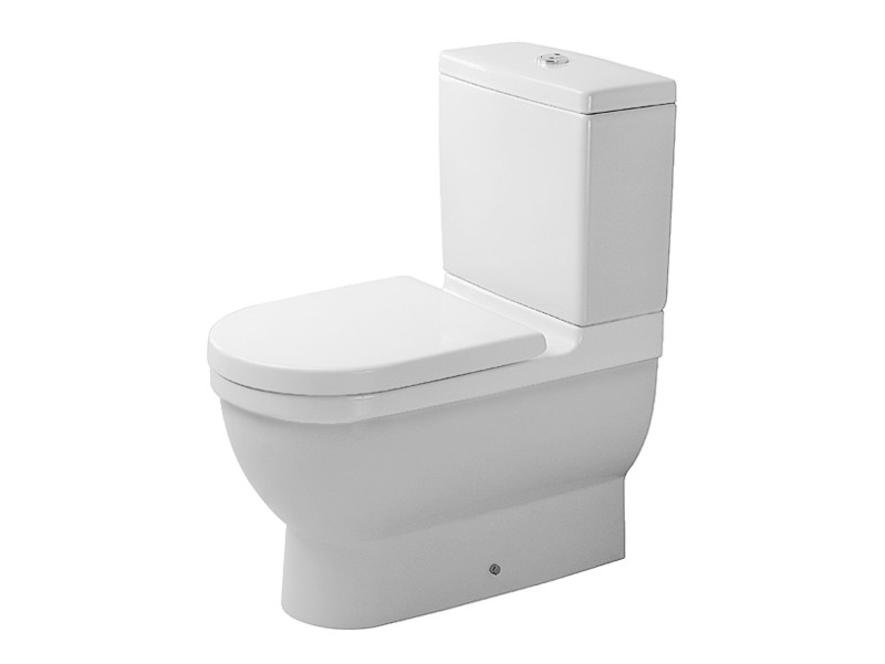 Close coupled ceramic toilet STARCK 3 | Close coupled toilet by Duravit