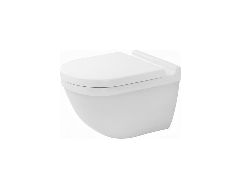 Wall-hung ceramic toilet STARCK 3 | Wall-hung toilet - DURAVIT