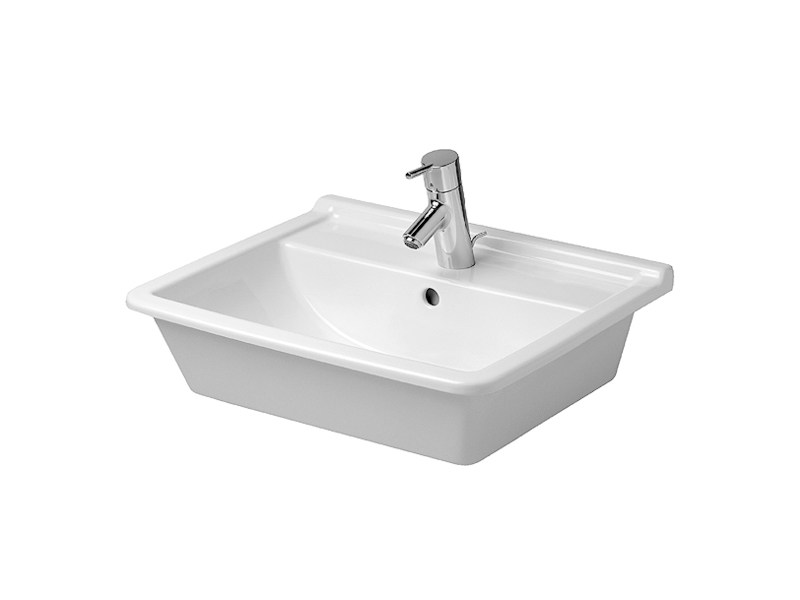 Inset ceramic washbasin STARCK 3 | Inset washbasin - DURAVIT