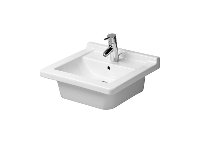 Inset grinded ceramic washbasin STARCK 3 | Washbasin by Duravit