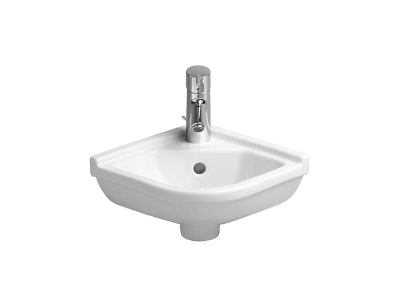 Corner ceramic handrinse basin STARCK 3 | Handrinse basin by Duravit