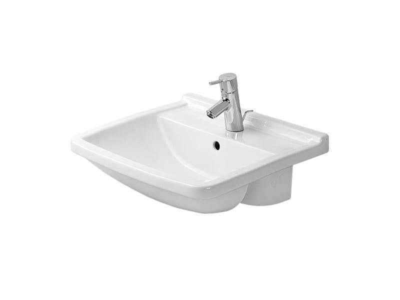Semi-inset ceramic washbasin STARCK 3 | Semi-inset washbasin by Duravit