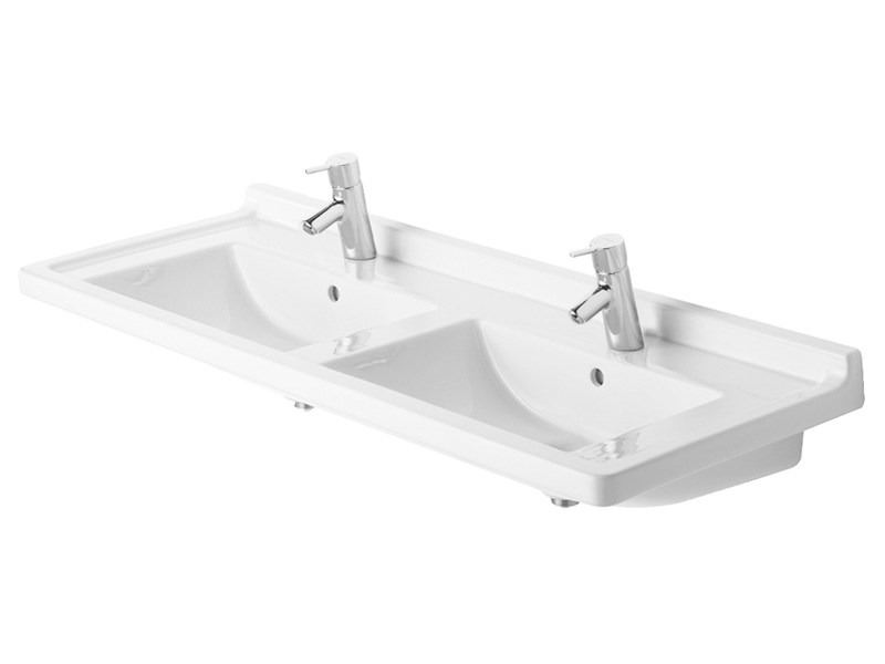 Double ceramic washbasin STARCK 3 | Double washbasin - DURAVIT