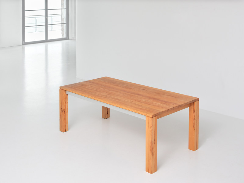Extending rectangular solid wood table AMBER - vitamin design