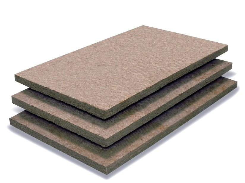 Thermal insulation sheet and panel in mineral fibre / Sound insulation and sound absorbing panel in mineral fibre FIBRANgeo B-060 - FIBRAN