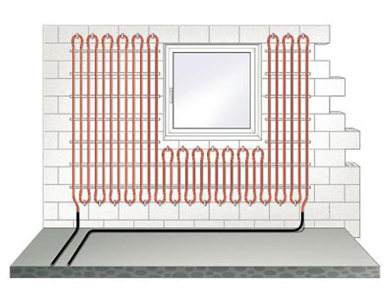 Radiant wall panel FONTERRA SIDE 12 CLIP by Viega Italia