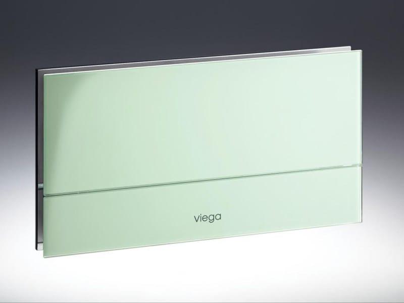 placca di comando per wc in acciaio e vetro visign for. Black Bedroom Furniture Sets. Home Design Ideas