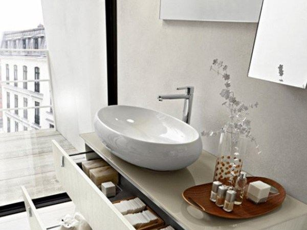 Countertop ceramic washbasin TAO 75 - Cerasa
