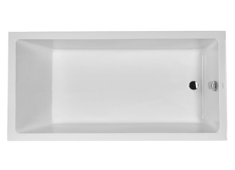 Baignoire il t rectangulaire collection starck 1 by duravit italia design philippe starck - Baignoire ilot duravit ...