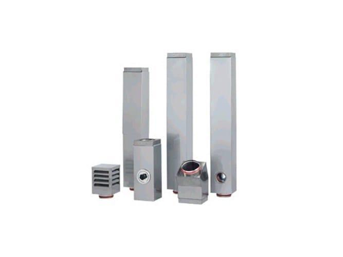 Stainless steel flue CaminQUADRO inox - IPIESSE