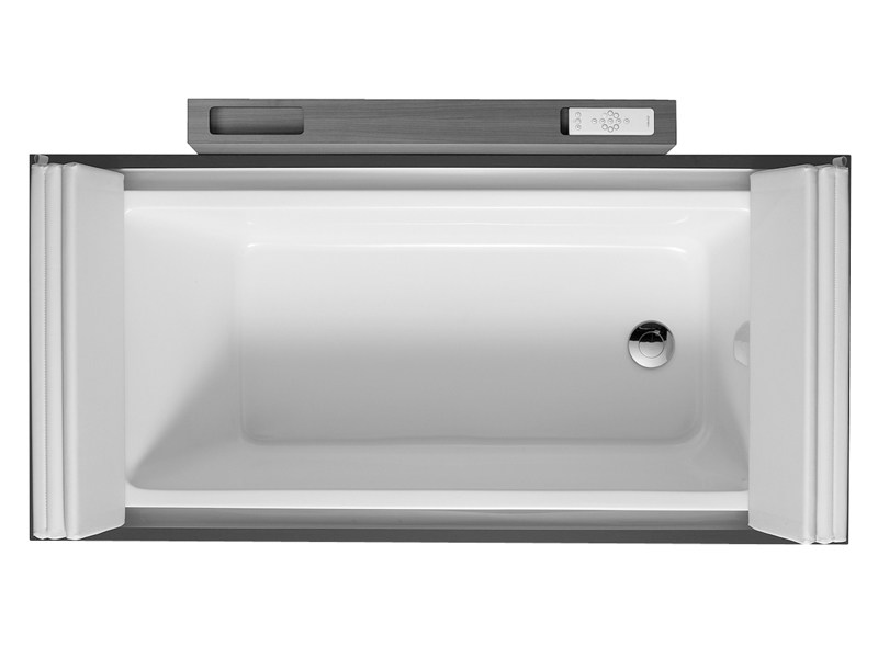 Rectangular bathtub on legs SUNDECK | Bathtub on legs - DURAVIT