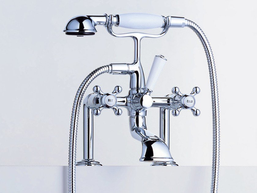 2 hole bathtub tap with hand shower MADISON | Wall-mounted bathtub tap - Dornbracht