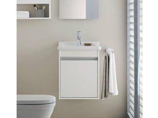Single wall-mounted vanity unit KETHO | Single vanity unit by Duravit