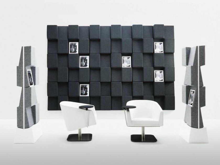 Workstation screen / magazine rack WINDOW - Abstracta