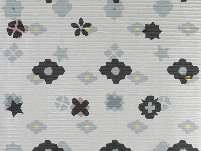 Woven vinyl FLOWER - POWER HIVER - Dedar