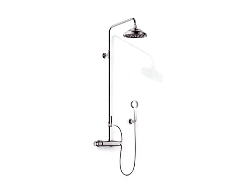 Thermostatic shower mixer with overhead shower MADISON FLAIR | Shower tap with hand shower by Dornbracht