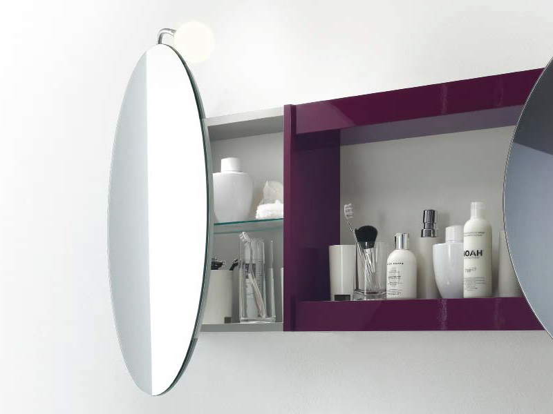 Miroir pour salle de bain avec rangement joy 2 collection for Miroir salle de bain avec rangement