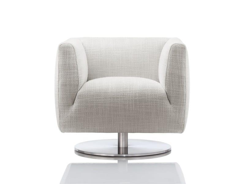 Swivel upholstered armchair ARDEA | Swivel armchair - Wittmann