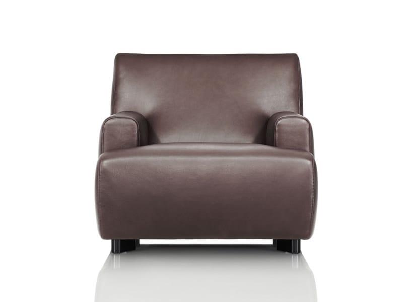 Upholstered leather armchair SABRA | Armchair - Wittmann