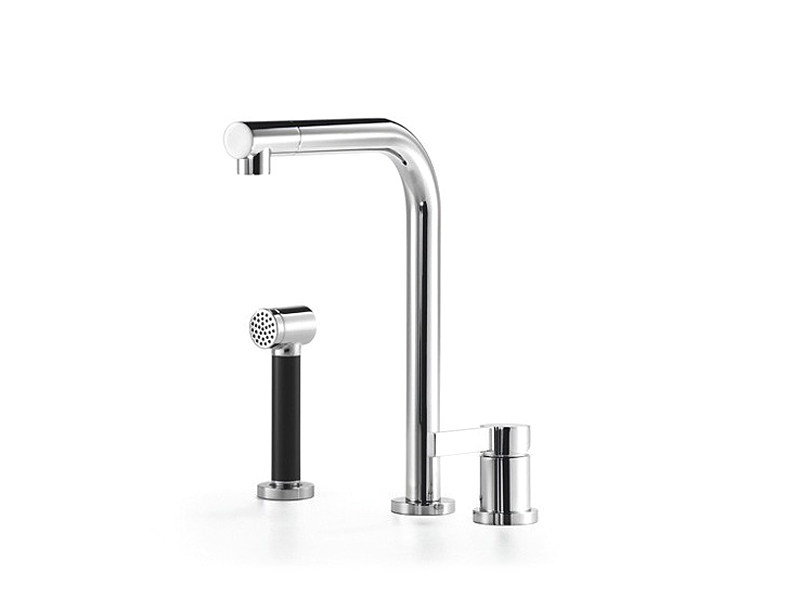Kitchen mixer tap with spray with individual rosettes ELIO - Dornbracht