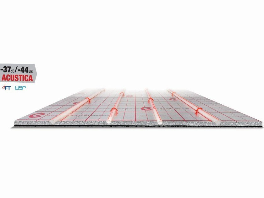 Graphite-enhanced EPS Radiant floor panel europlus-silentium - Eurotherm